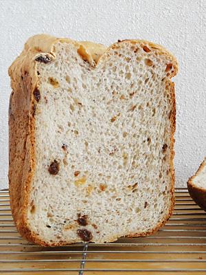 GOPANの干しぶどうお米パンの断面