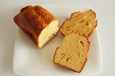 プロテイン・ケーキの断面