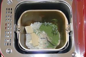 お米抹茶パン生地の材料を入れたパンケース