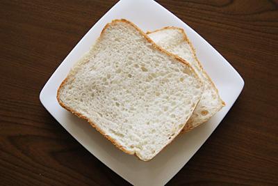 朱鷺と暮らす郷づくり認証米お米食パンのスライス