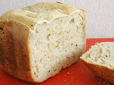 梅干しと塩昆布のお米食パン