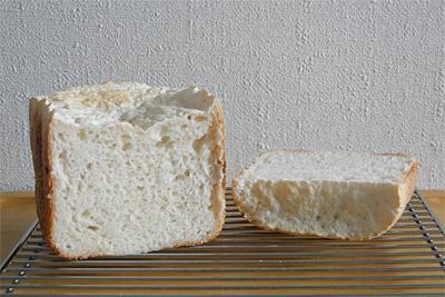 GOPANの失敗お米食パンの断面