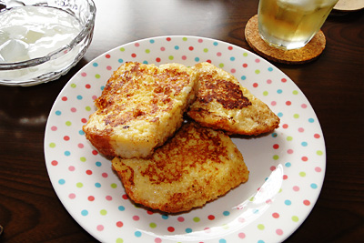 GOPANの失敗お米食パンでフレンチトースト