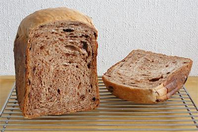 GOPANのチョコチップミルク食パンの断面