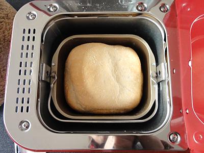 ササニシキお米食パンの焼き上がり