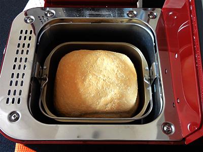 夢しずくお米食パンの焼き上がり