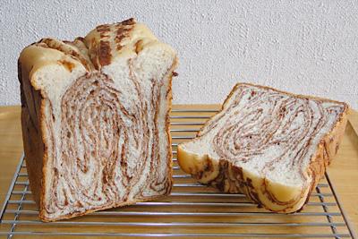 GOPANのパネトーネマザー・チョコマーブル食パンの断面