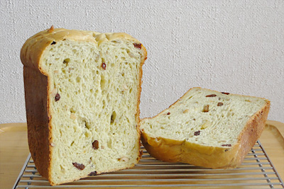 GOPANのナッツ&ドライフルーツ抹茶食パン