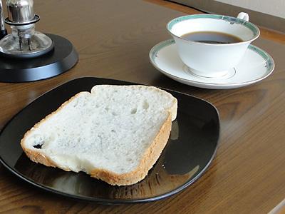 お米食パンとコーヒー