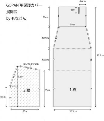 GOPAN用保護カバー展開図