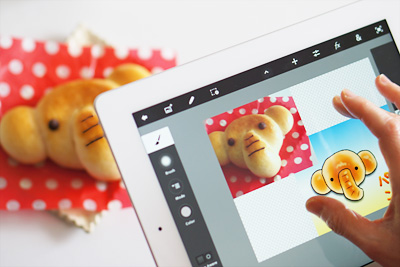 iPadとAdobe Photoshop Touchで本格的な写真編集