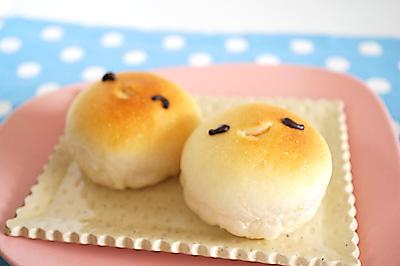 にこにこ2個のクリームパン