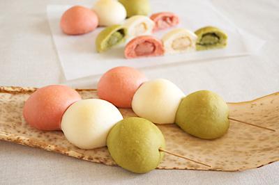 あこ有機培養酵母の三色だんごパン