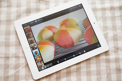 新しいiPadのiPhotoで写真を編集