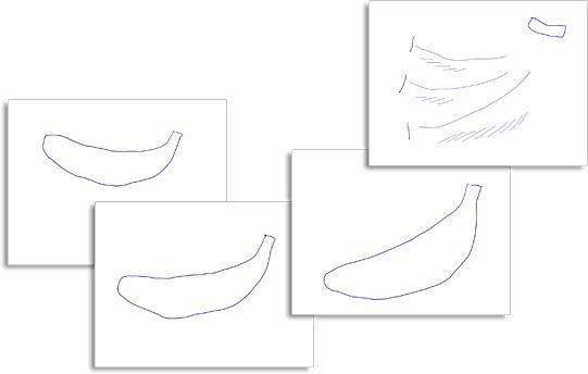 レイヤーに小分けした4つの画像