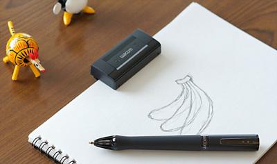 Inklingのレシーバー(上)と、デジタルペン(下)
