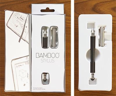 「Bamboo Stylus」に、描きやすいボールペンが付いた「Bamboo Stylus duo」。2012年4月27日発売、ワコムストア価格 3480円