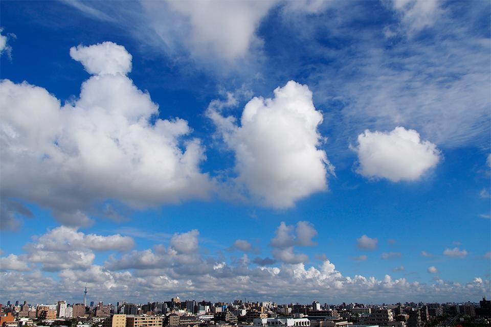 雲が続々接近中!