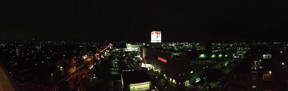 iPhone5のカメラで撮った夜景パノラマ