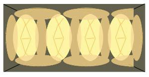 パウンド型にりんごを並べるイメージ