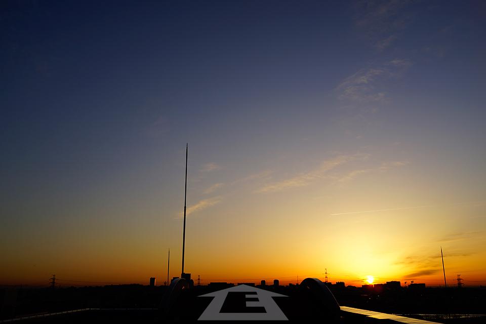 2012年冬至の日の出
