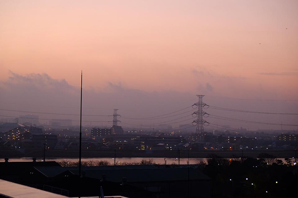 X-E1で撮影した夜明け前。