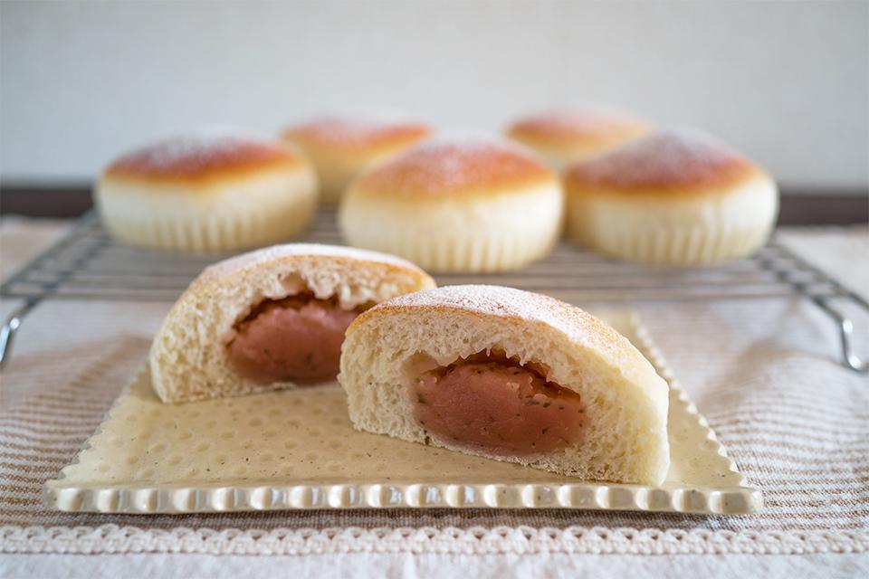 塩麹桜あんパン