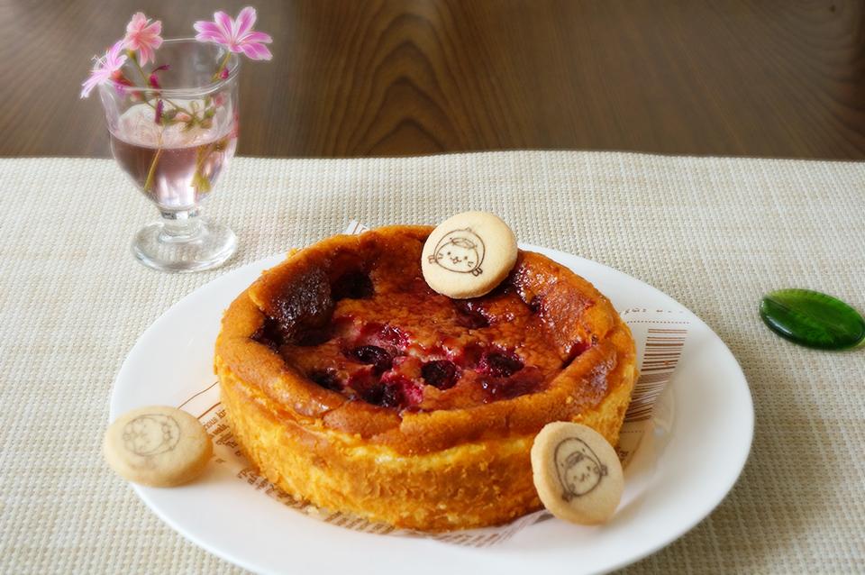 しろたんラズベリーチーズケーキ