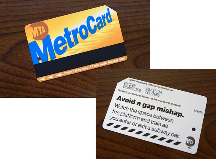 1weekのメトロカード