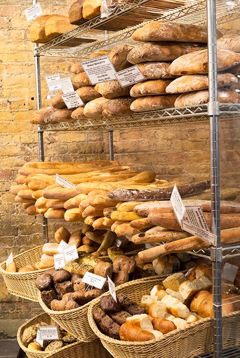 パン屋さんの一画