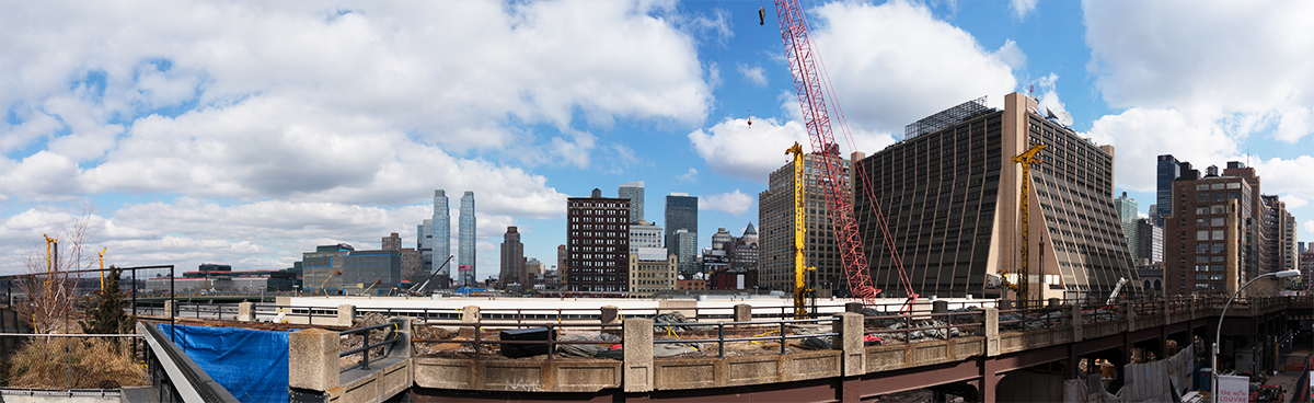 West 30th Stの拡張工事の風景