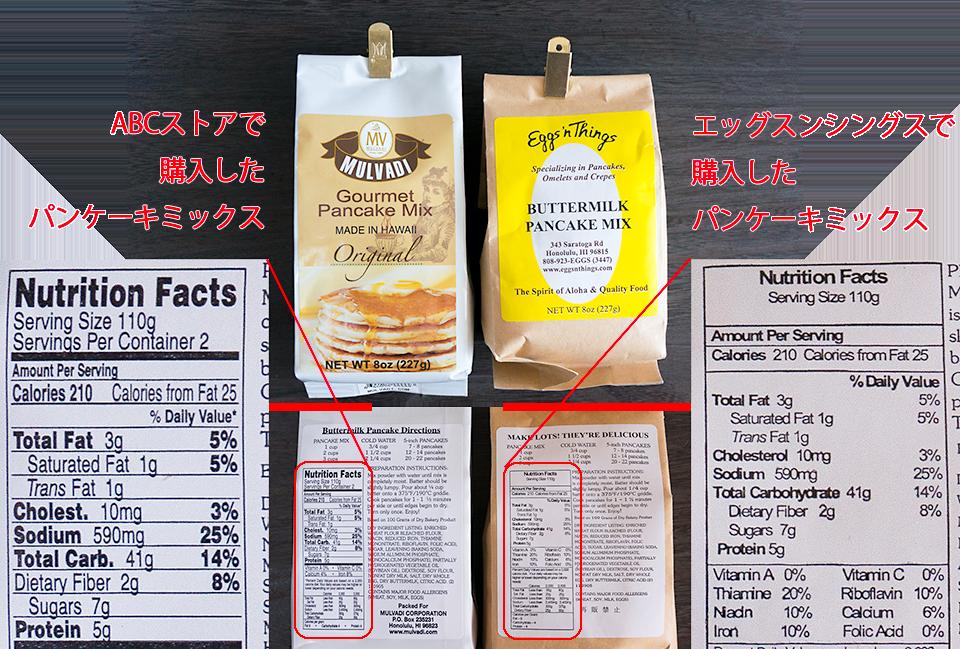 ハワイのパンケーキミックス2種