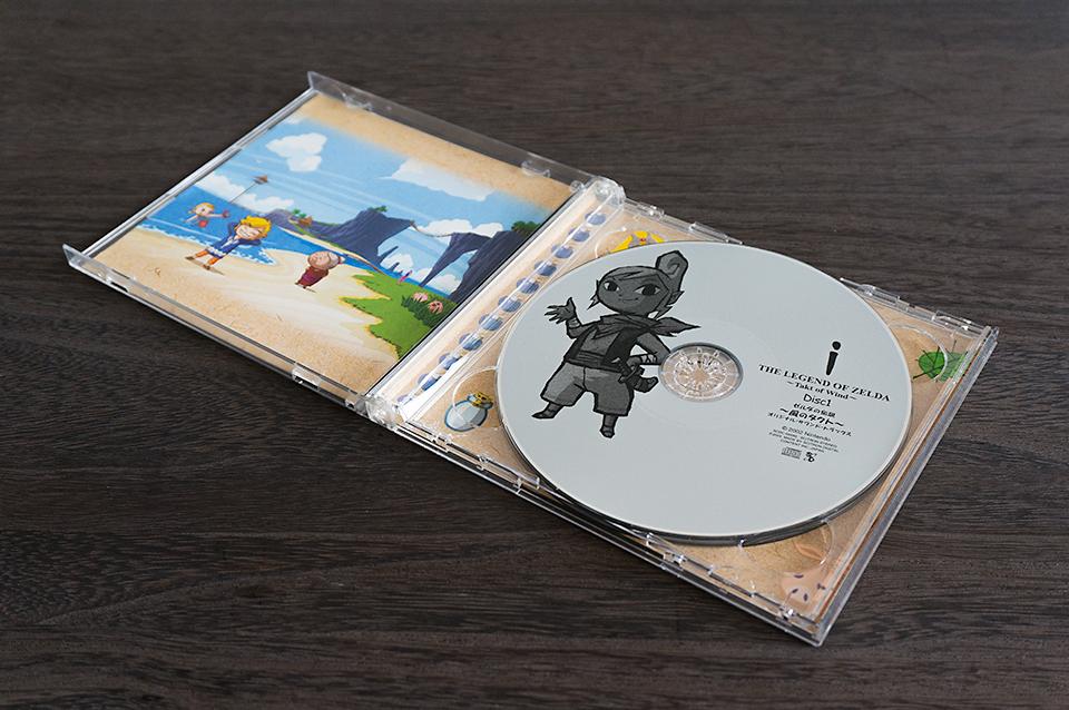 GAMECUBEの風のタクトサウンドトラックCD。二枚組