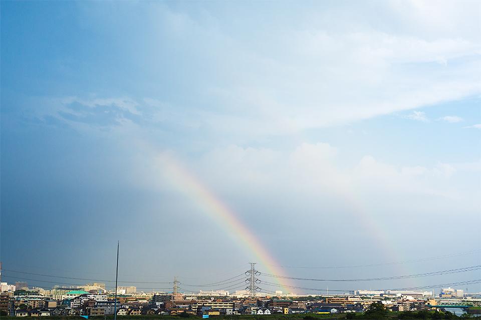 2日連続二重の虹