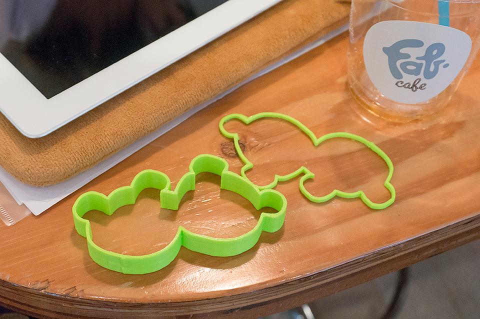 3Dプリンターで作ったクッキー型