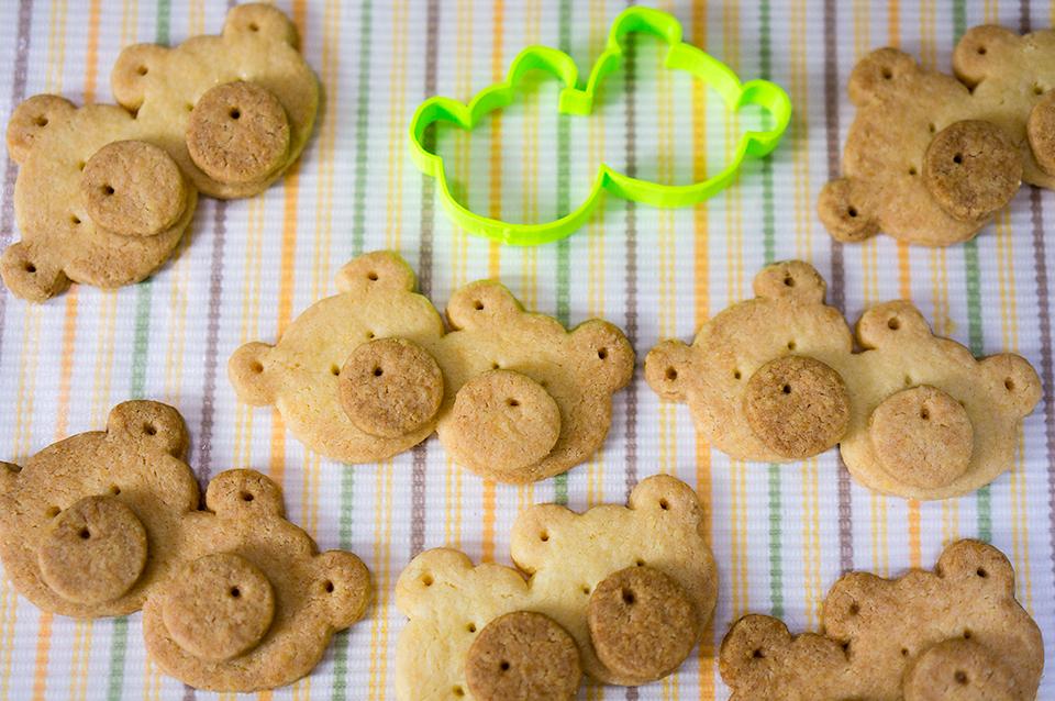 3Dプリンターのクッキー型で作ったくまくまクッキー