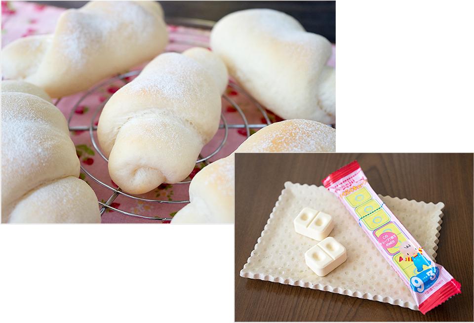 右下の写真がキューブミルクです。