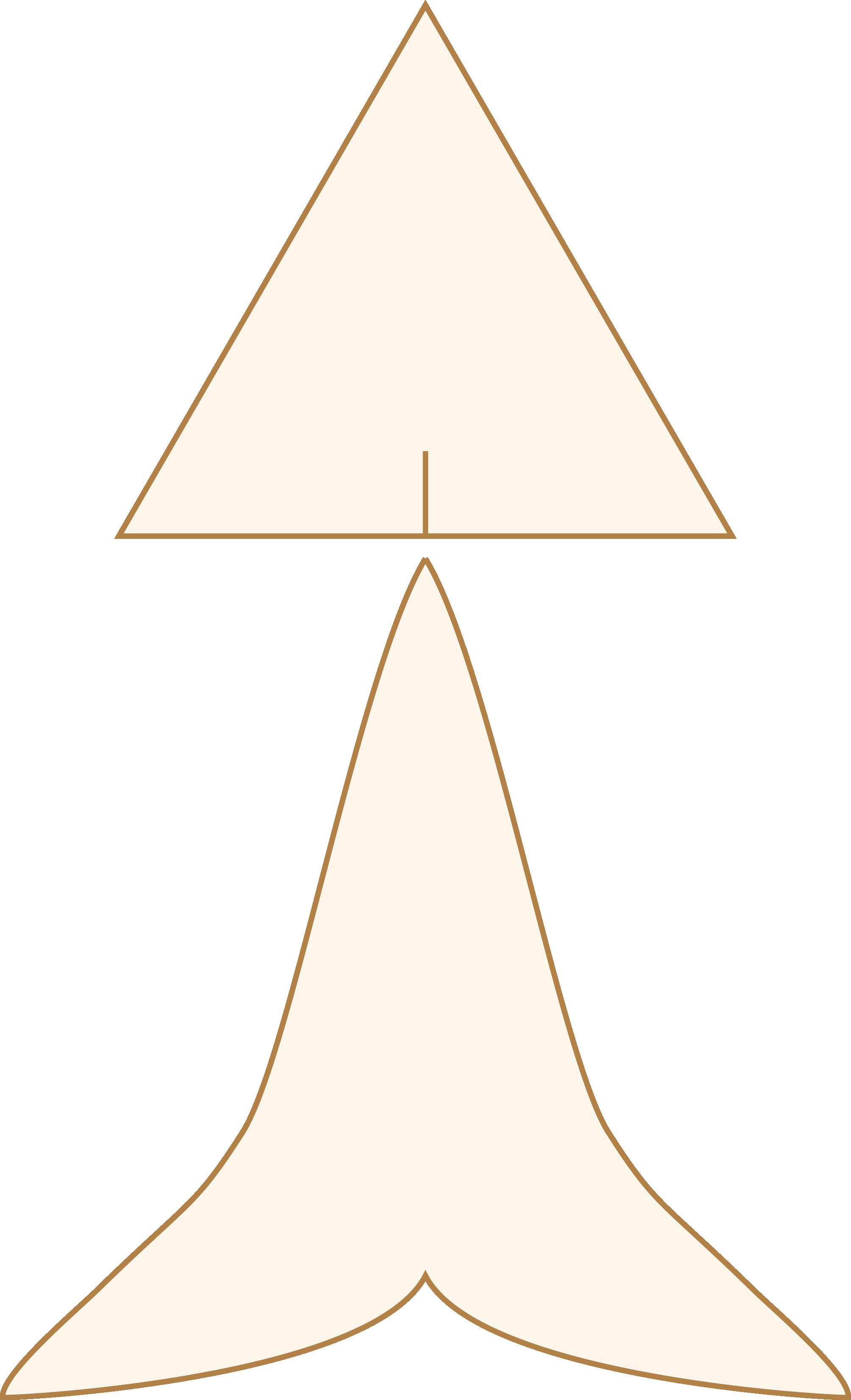 正三角形を下のような形に伸ばします