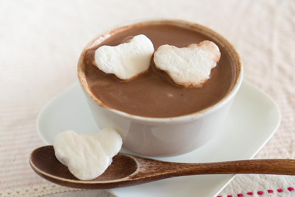 くまくまマシュマロのホットチョコレート