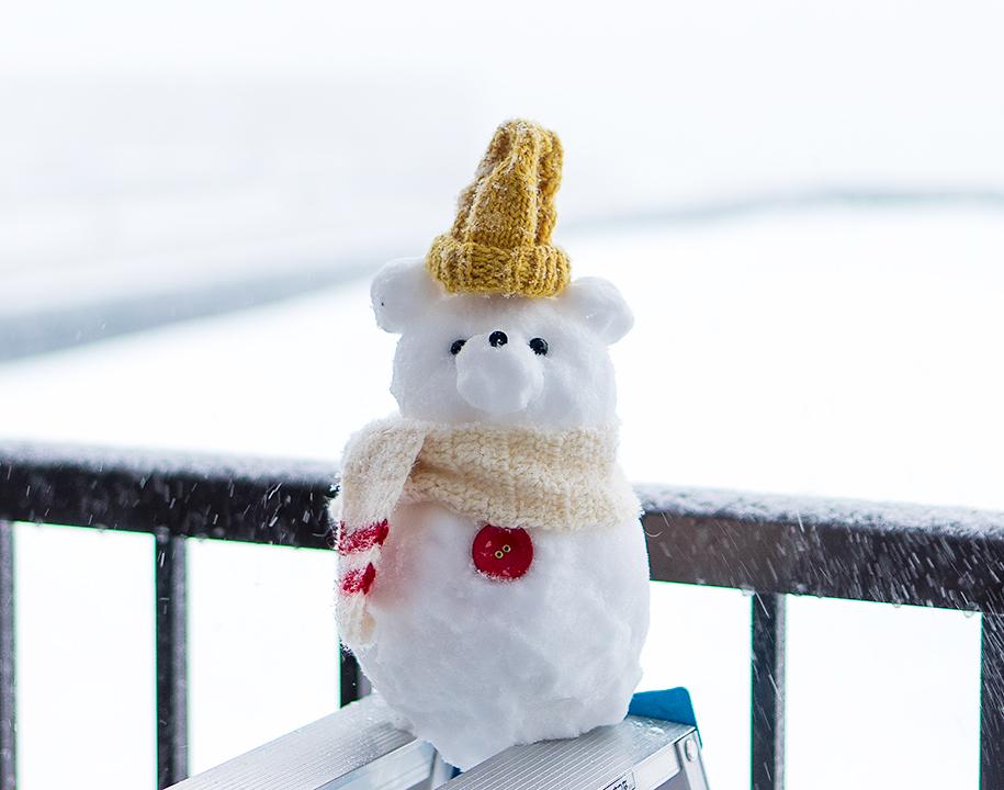 くまくま雪だるまがあらわれた!