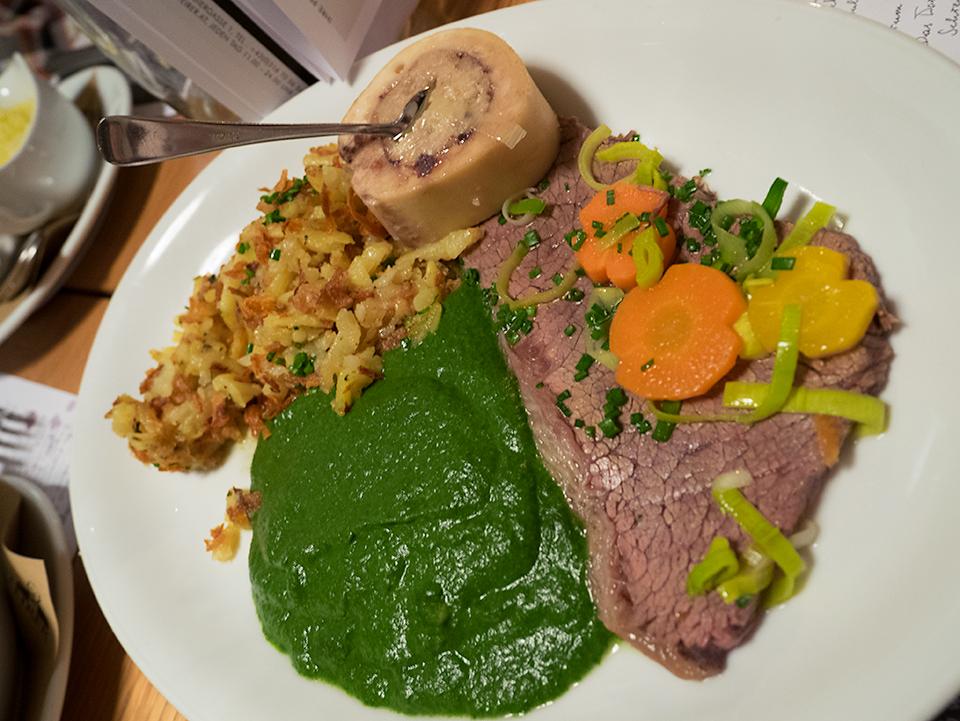 オーストリア伝統の料理、ターフェルシュピッツ