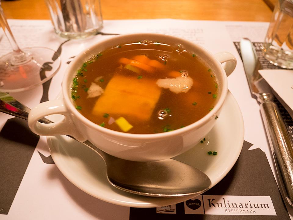 オーストリアはスープがおいしいんですって。