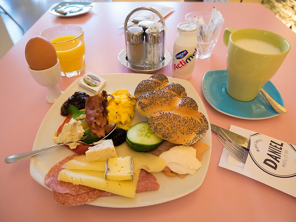 ホテル3日目の朝食。