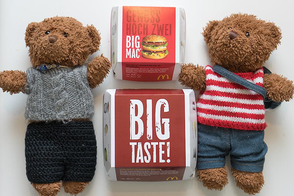 ビリーとジョニーのビッグマックとBig Tasty。
