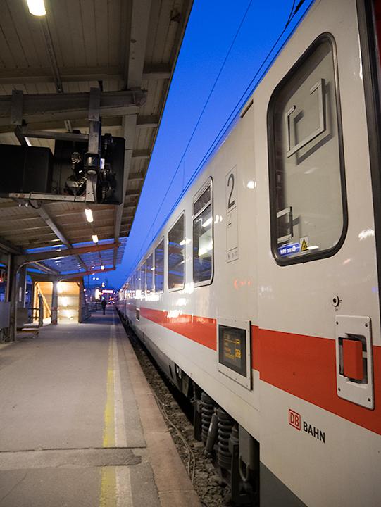 フランクフルト行きの列車。