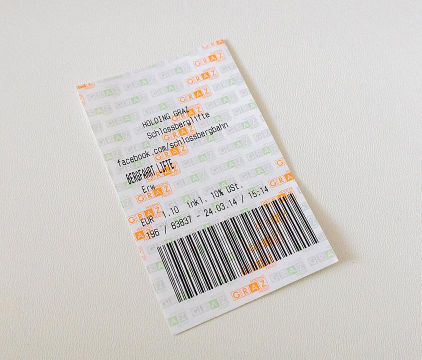 リフトは1.10ユーロ。