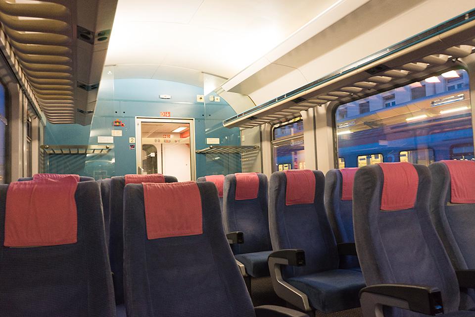 グラーツ発ザルツブルク行きの特急列車。