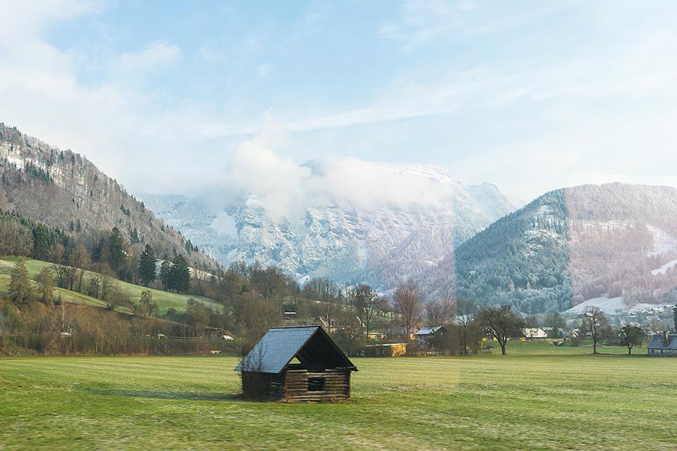 車窓からの風景。