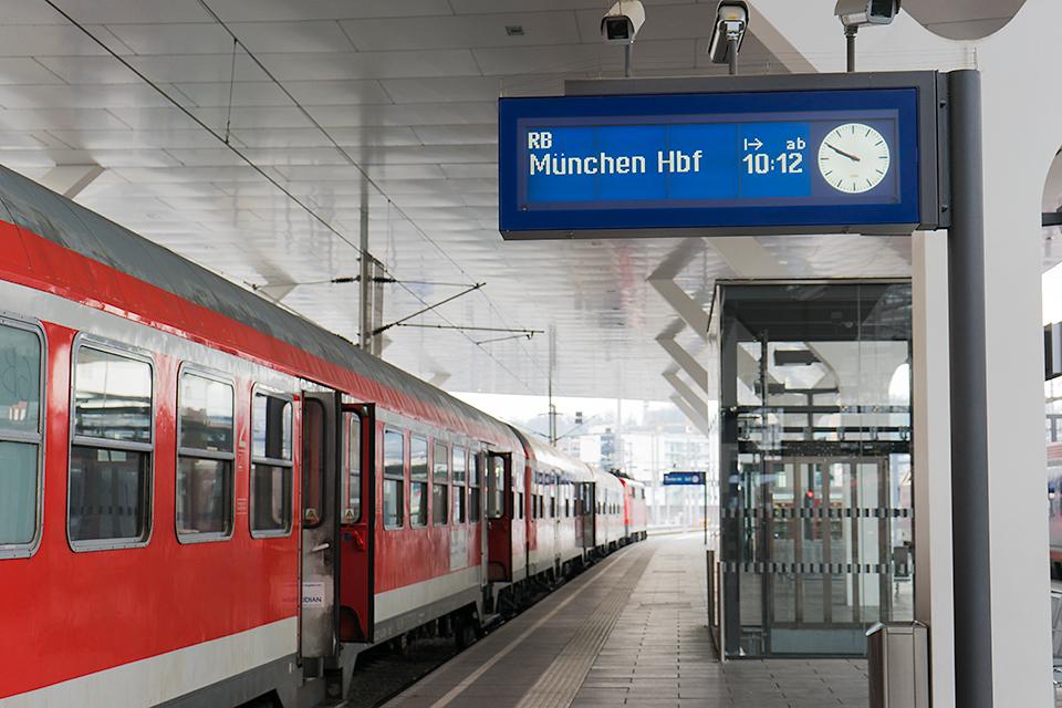 ザルツブルク中央駅からミュンヘン中央駅行きに乗り継ぎ。
