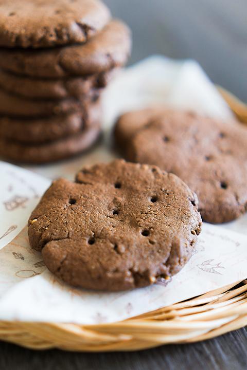 ザックリココアクッキー